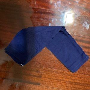 Girl's blue capri leggings